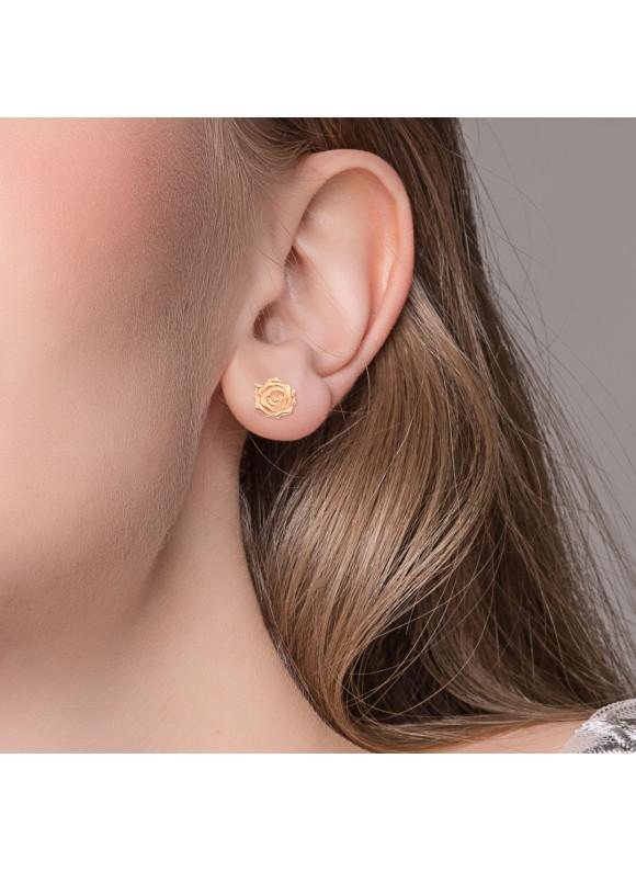 BEAUTY & THE BEAST ENCHANTED ROSE EARRINGS
