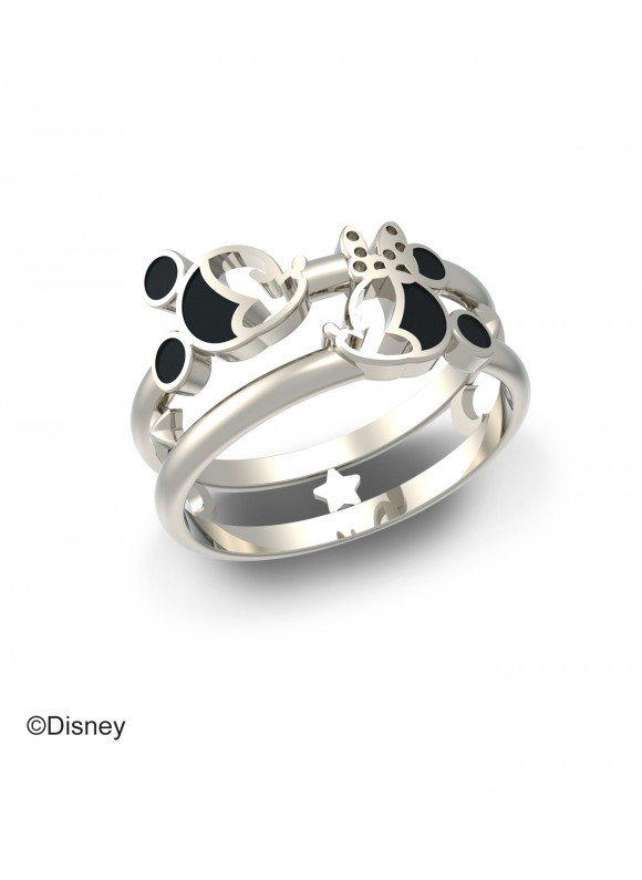 Disney Mickey Minnie Starry Night Ring