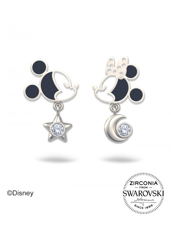 Disney Mickey Minnie Starry Night Stud Swarovski Earrings