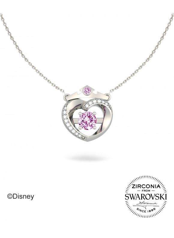 Disney Princess Aurora True Love Tiara Swarovski Necklace