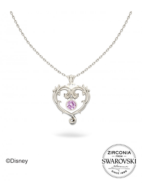 Disney Princess Aurora True Love Swarovski Necklace (White Gold)