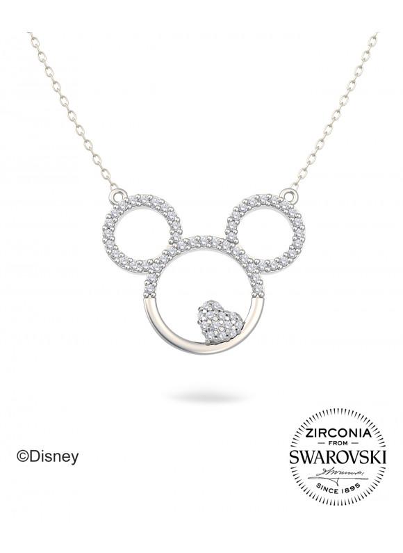 Disney Mickey & Heart Swarovski Necklace