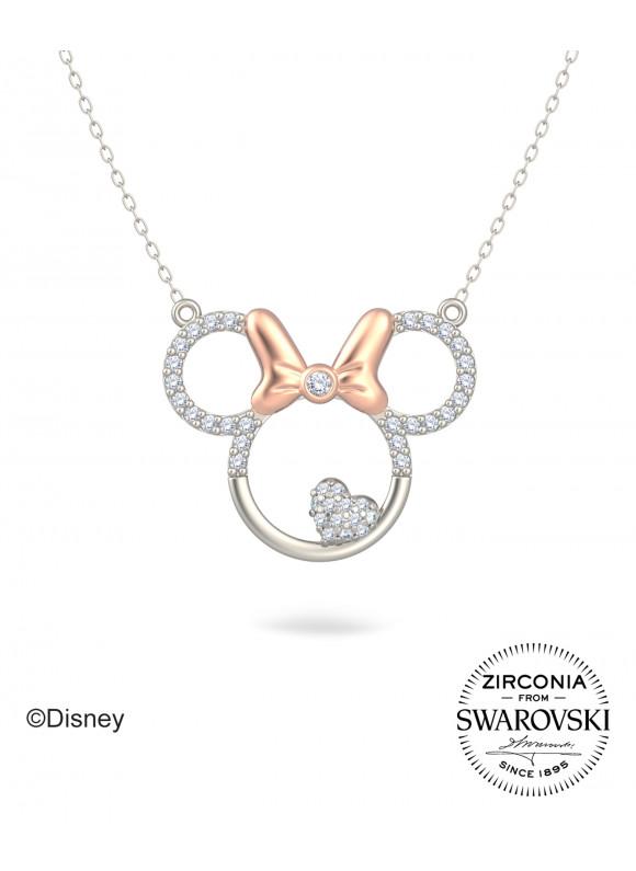 Disney Minnie & Heart Swarovski Necklace