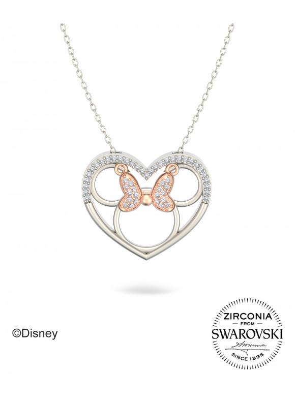 Disney Minnie In The Heart Swarovski Necklace