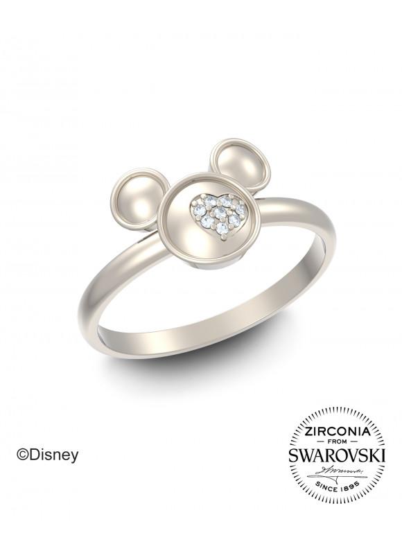 Disney Mickey Silhouette Swarovski Ring