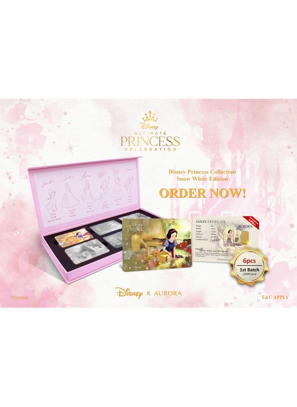 AURORA ITALIA DISNEY Princess Collection - Snow White Limited Edition Gram Bar 1g 24K (Au 999.9)
