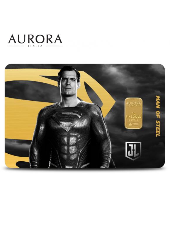 Aurora Italia Zack Snyder's Justice League Collection - Superman Limited Edition Gram Bar 1G (AU 999.9) 24K