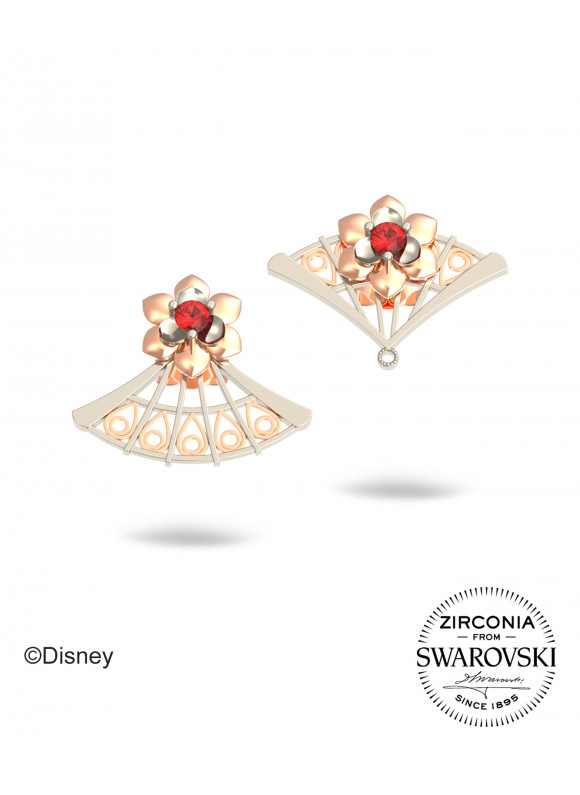 Disney Mulan Courage Fan Swarovski Earrings