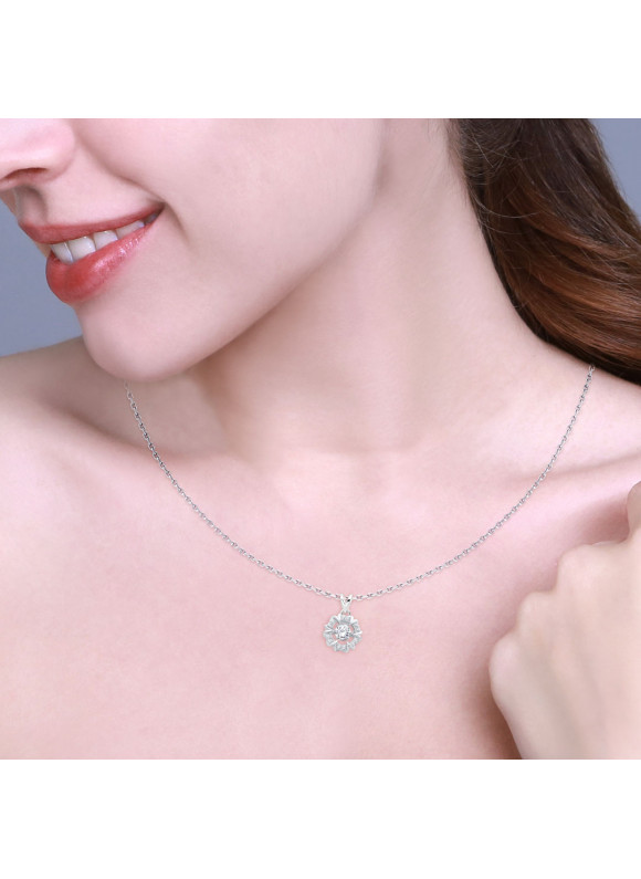 Auroses Harmony Halo  Necklace (Dancing Diamond)