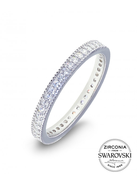 AUROSES Bead Eternity Ring Sterling Silver