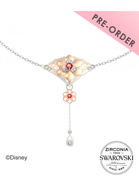 Disney Mulan Vintage Fan Swarovski Necklace (PRE ORDER)