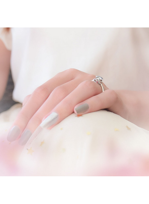 SNOW WHITE THE FAIREST ONE OF ALL RING  | SWAROVSKI ZIRCONIA | 925 STERLING SILVER | 18K WHITE GOLD PLATED