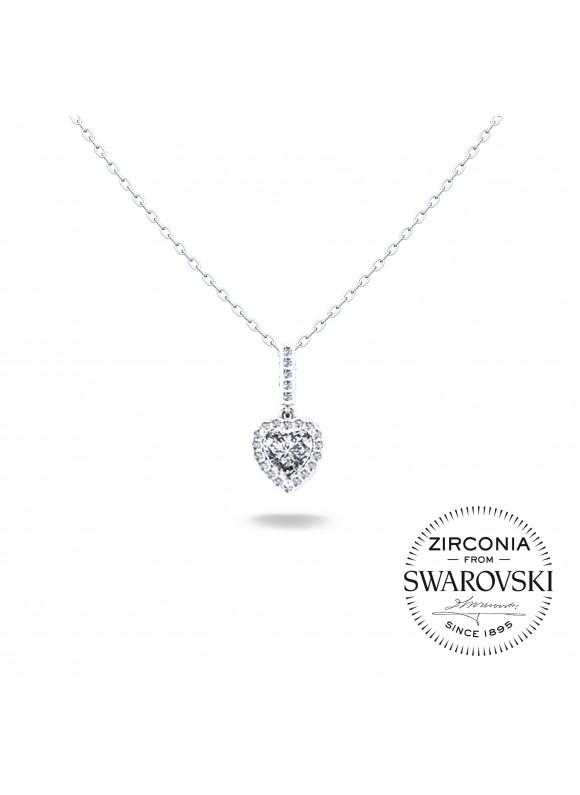 Auroses Only Heart Swarovski Necklace