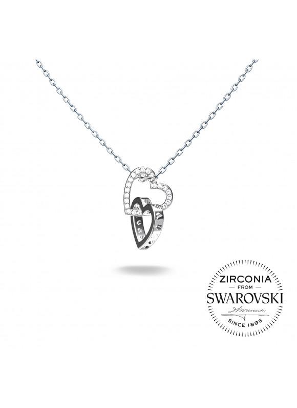 Auroses Entangled Hearts Swarovski Necklace