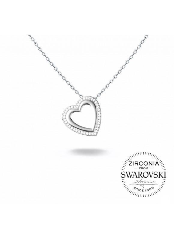 Auroses Interweaved Love Swarovski Necklace