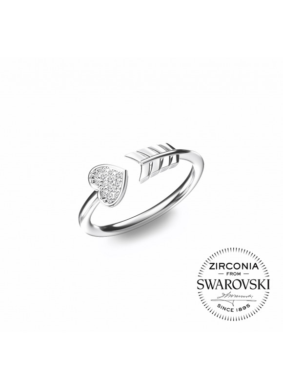 Auroses Cupid Love Open Swarovski Ring