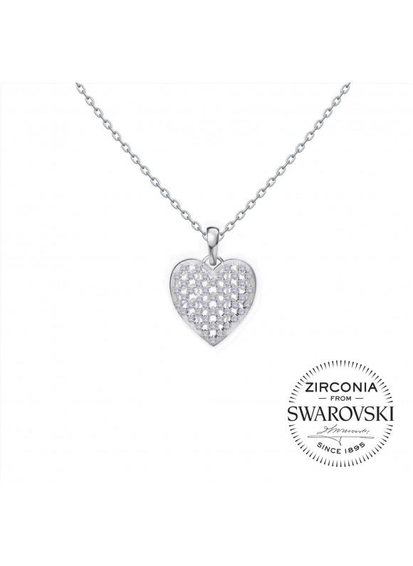 Auroses Twinkling Heart Swarovski Necklace
