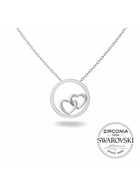Auroses Unbreakable Hearts Swarovski Necklace