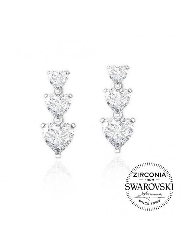 Auroses Droplets Love Swarovski Earrings