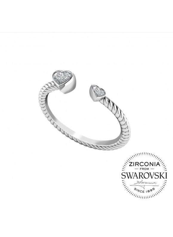 Auroses Intimate Love Open Swarovski Ring