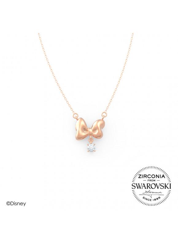 Disney Minnie Ribbons Swarovski Necklace