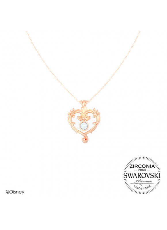Disney Princess Aurora True Love Swarovski Necklace (Rose Gold)