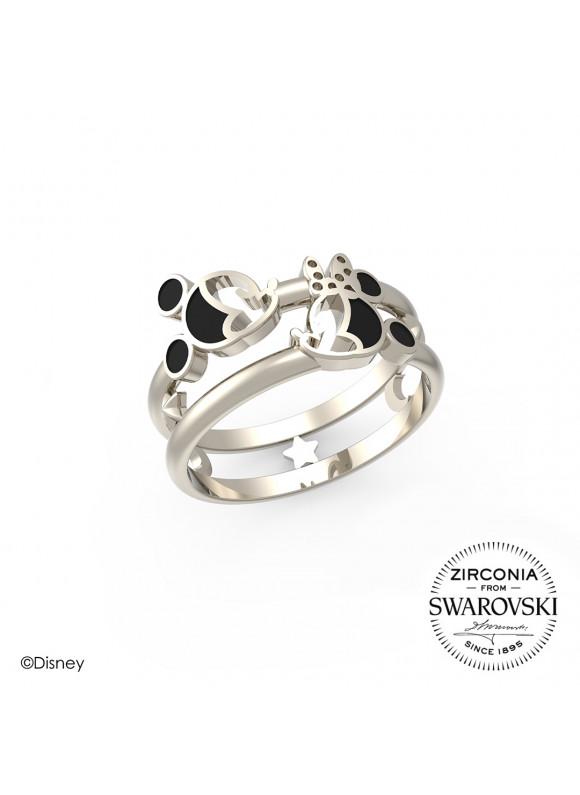 Disney Mickey Minnie Starry Night Swarovski Ring