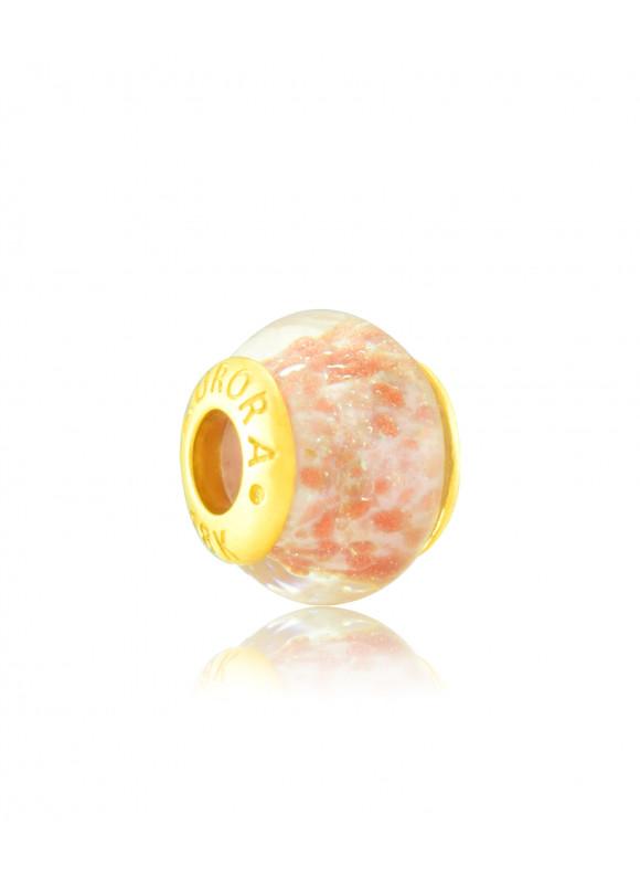 BLUSH PINK Aurora 18k Yellow Gold Charm