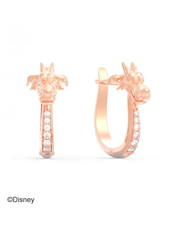 Disney Mulan Mushu Dragon Loop  Earrings