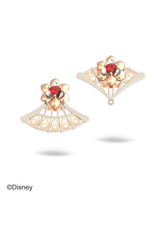 Disney Mulan Courage Fan  Earrings