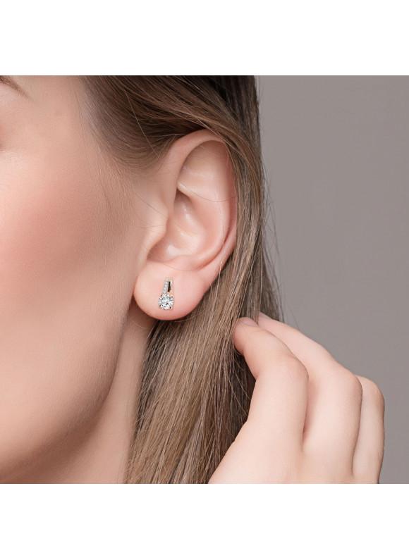 AUROSES Four-Prong Stud Earring