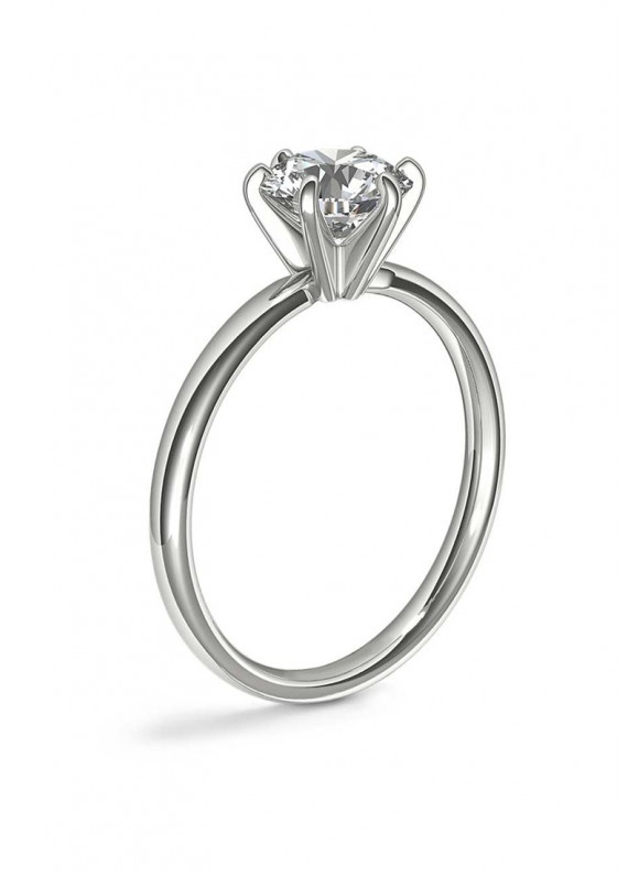 AUROSES Solitaire Ring Sterling Silver