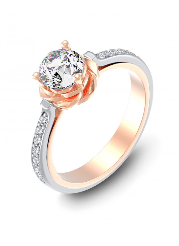 AUROSES DIVINE ROSE FANCY SOLITAIRE RING