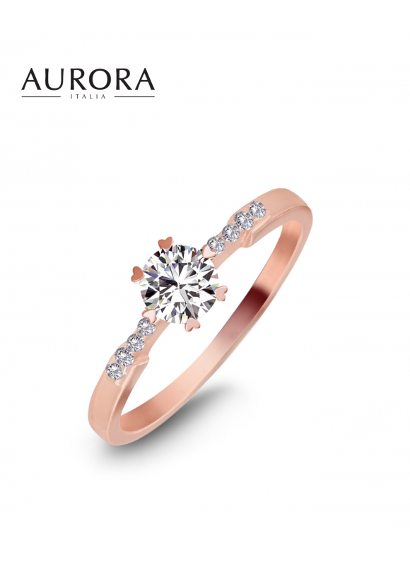 AUROSES Scalloped Solitaire Ring
